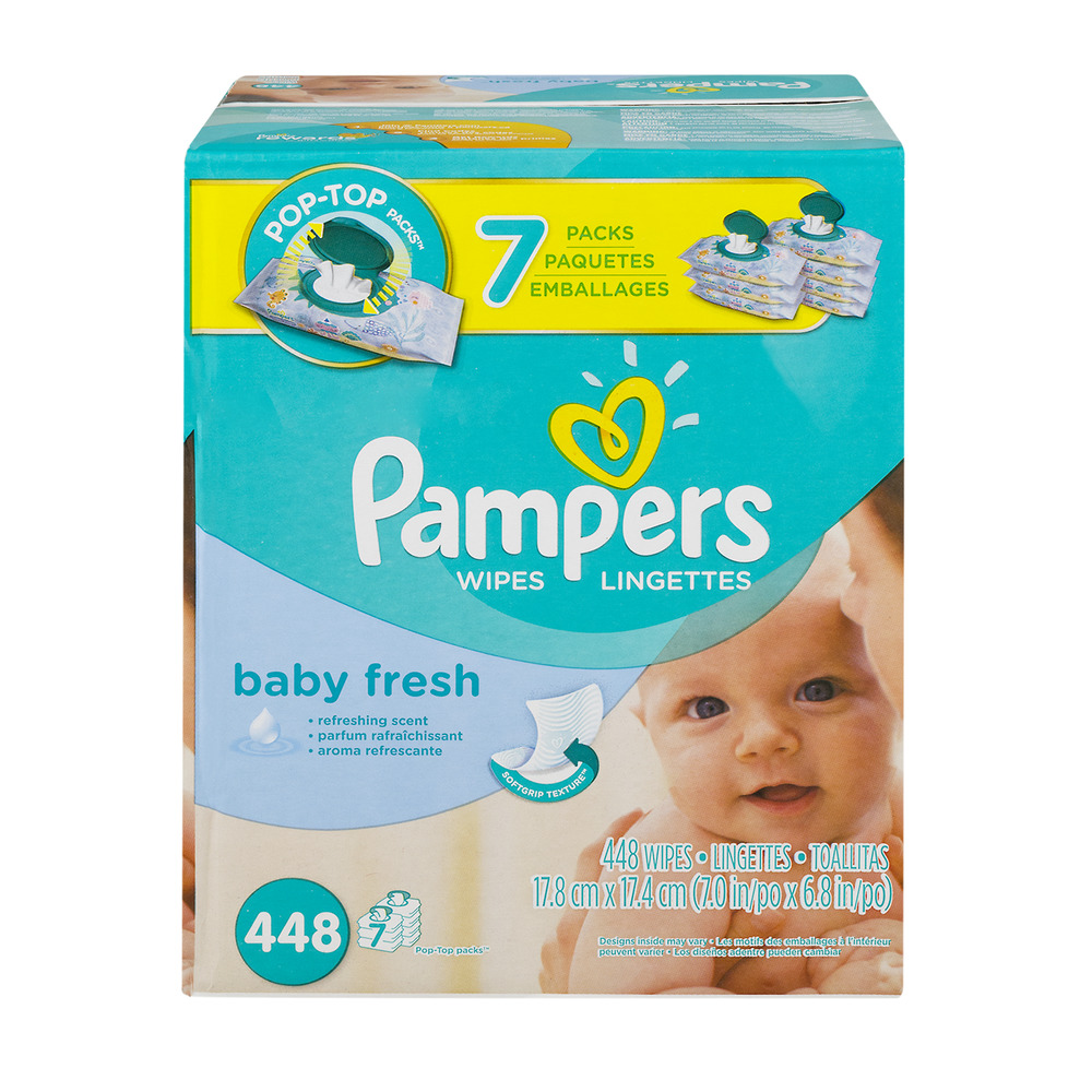Pampers Baby Wipes Baby Fresh - 448 CT