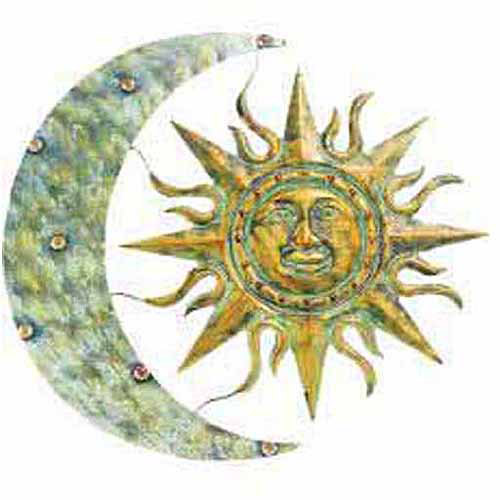 "Gardman Aztec Sun and Moon Wall Art, 26""L X 24""W"