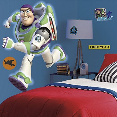 Roommates Decor  Toy Story BUZZ Lightyear Glow in the Dark Peel & Stick Giant Wall Decal