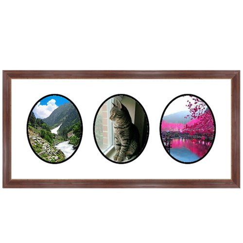 Frames By Mail 3 Oval Opening Collage Picture Frame
