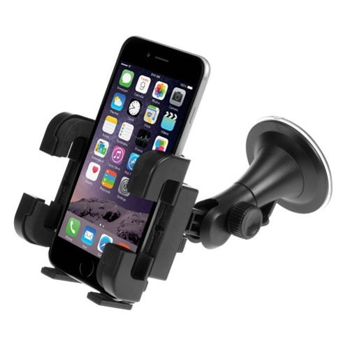 Universal Car Mount Windshield Holder Rotating Cradle Window Swivel Dock Suction Multi Point Rotation V4Y for Samsung Galaxy J1 J3 Emerge J7 Perx V (2017), Mega 2 Note 2 On5 Prevail LTE S4, S5 Active