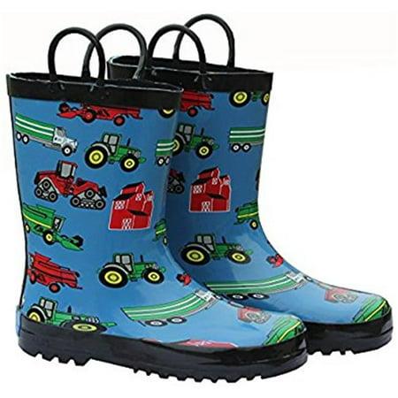 Foxfire FOX-600-16-7 Childrens Blue Farm Equipment Rain Boot - Size 7 - image 1 de 1