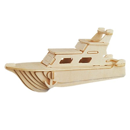 Yacht Woodcraft Construction Kit 3D Model Puzzle Toy Anopb