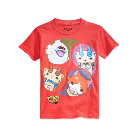 Nintendo Boys Yo-Kai Droplets Graphic T-Shirt red 5 - Little Kids (4-7)](Rex Kid)