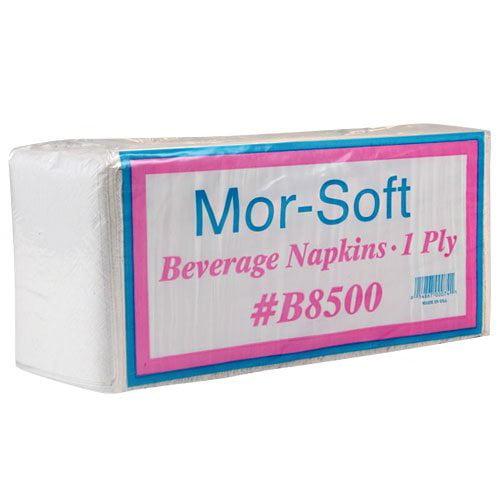 Morcon Paper Beverage Napkin 9-1//2 x 9-1//2 White 500//Pack 8 Packs//Carton B8500