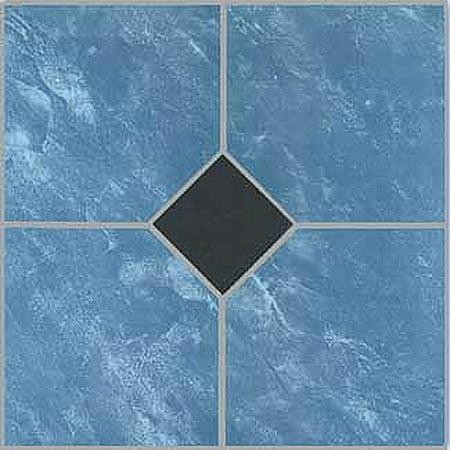 Blue Hard Flooring - Home Dynamix Flooring: Dynamix Vinyl Tile: 23057: 1 Box 20 Square Feet