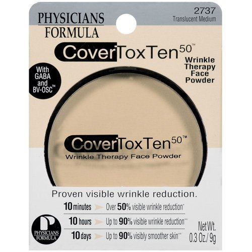 Cover Tox Ten 50 Wrinkle Therapy Face Powder, Translucent Medium 2737