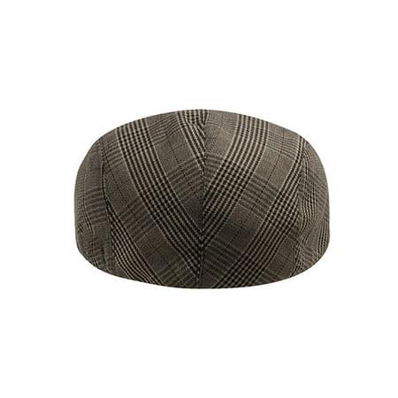 Top Headwear Plaid Fashion Ivy Cap - Brown - image 1 de 2