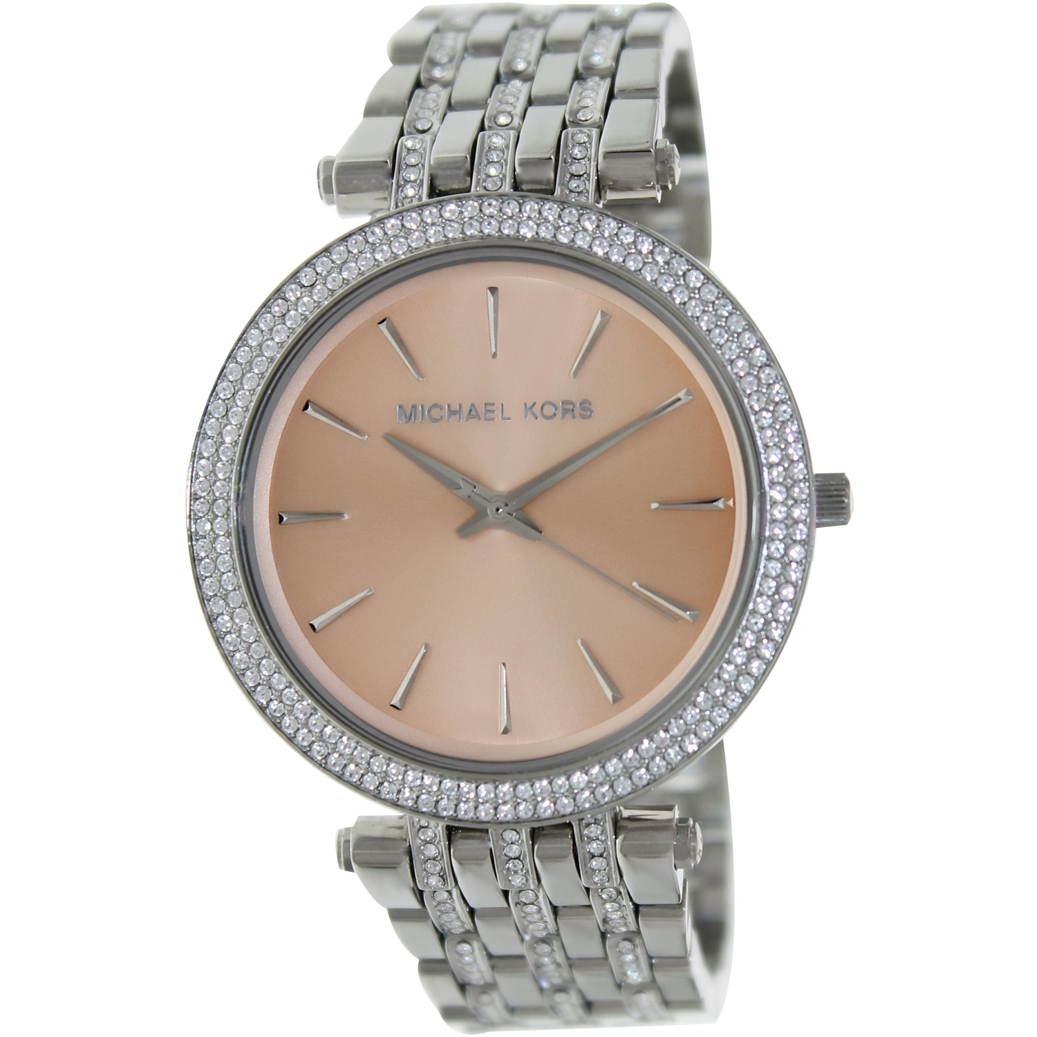 Michael Kors Women's Darci MK3218 Silver Glitter Stainless-Steel Japanese Quartz Fashion Watch