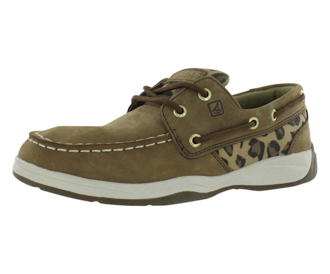 Sperry Intrepid Leopard Boat Casual Junior's Shoes Size by