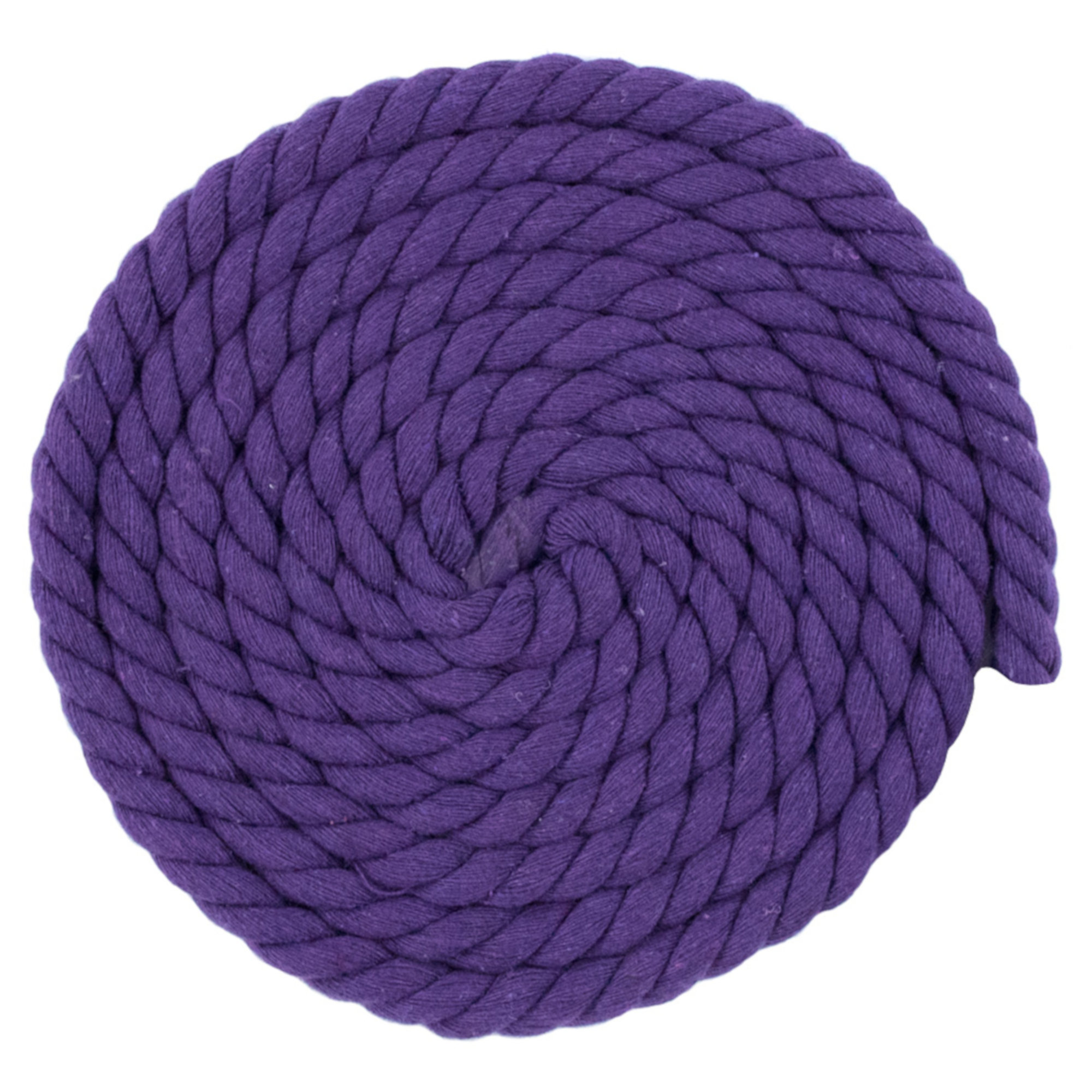 32 Feet//10 m 8mm Diameter Thick Colored Rope Natural Utility Durable Long Twisted Braided Cord Plastic End Reinforced Soft Cotton Rope Multifunction Craft Rope 2 Pcs 1//3 inch Purple