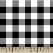 """Woven Gingham Check 1"""", Black, 44/45"""" Wi"""