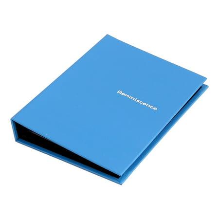 - Home Retangular Shaped Letter Print Memo Collections Holder Photo Album Blue