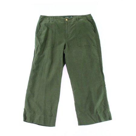 Womens Staight-Leg Crop Pants 14