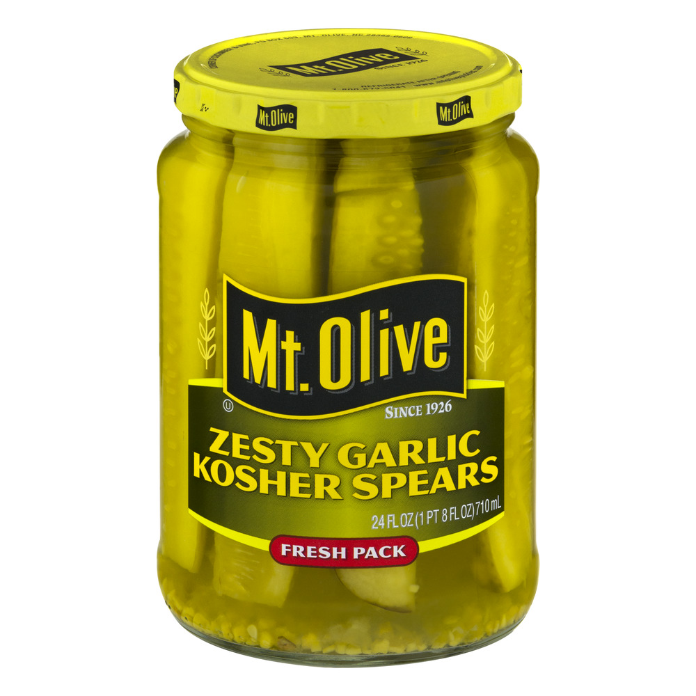 Mt. Olive Zesty Garlic Kosher Spears Fresh Pack, 24.0 FL OZ
