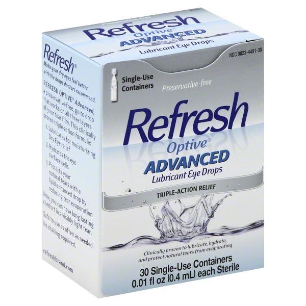 Refresh Optive® Advanced Lubricant Eye Drops 30-0.01 fl. oz. Tubes