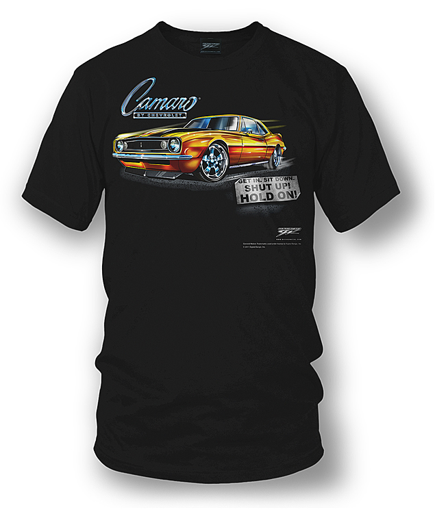 Chevy Camaro Z28 Retro Mens Short Sleeve T Shirt Charcoal Tee