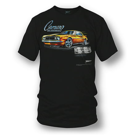 Z28 Camaro Muscle Car T-shirt (Wicked Metal Camaro Wicked Metal Camaro gear - Get In, Hold On - 1967 Camaro tee shirts gear - Approach with Caution - 1969 Camaro Z28 camaro tee shirts )