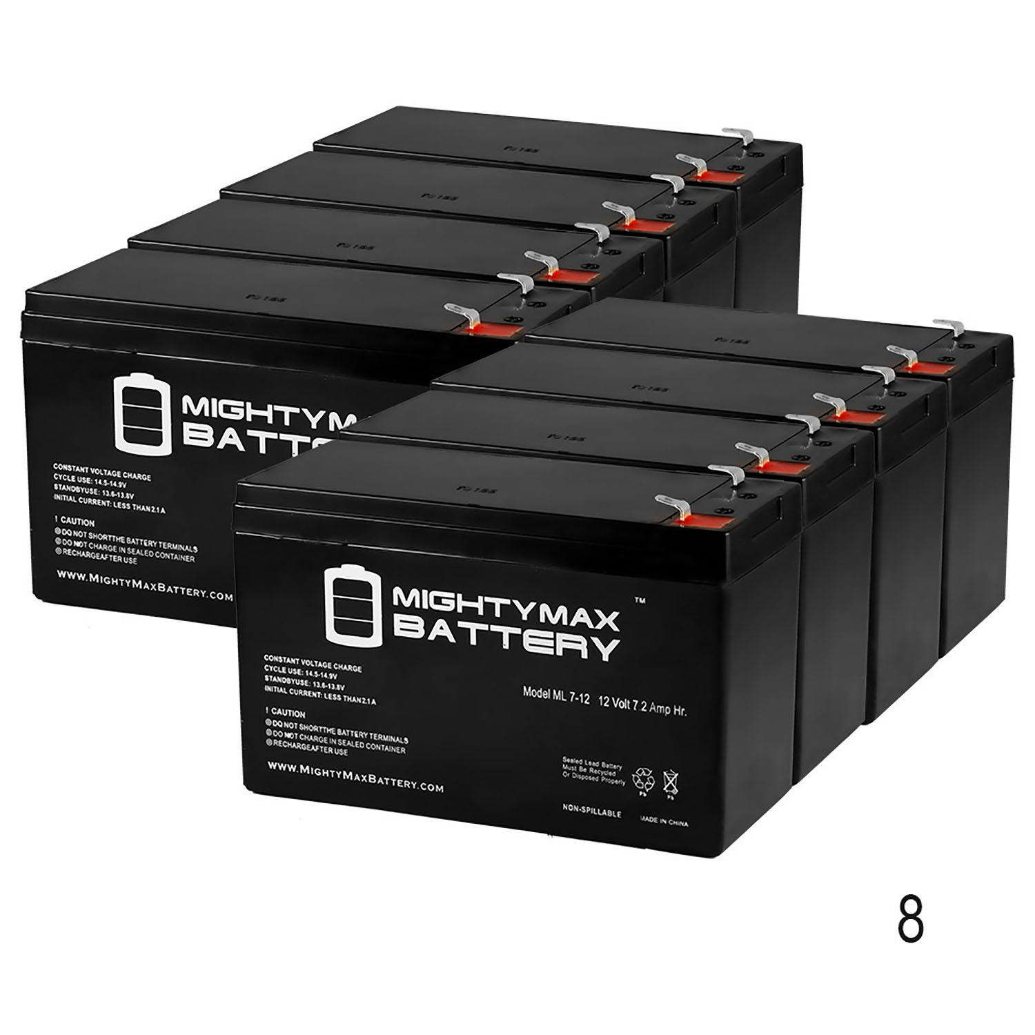 Mighty Max Battery 12V 7.2AH SLA Replacement Battery for Liebert GXT3-1500RT120-6 Pack Brand Product