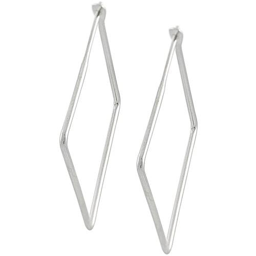 Brinley Co. Sterling Silver 28mm Square Hoop Earrings