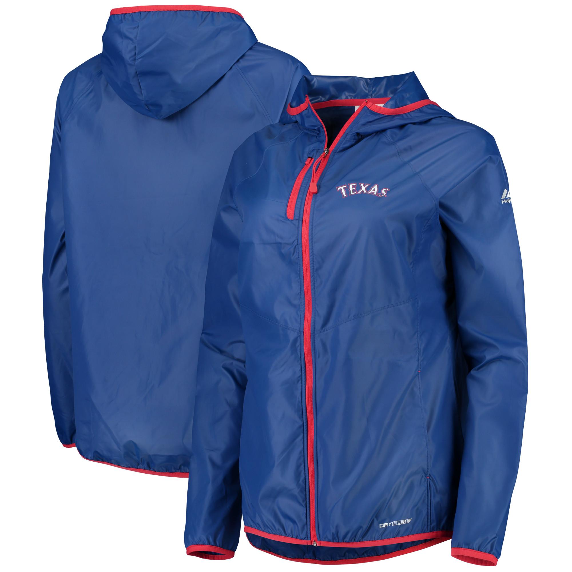 Texas Rangers Majestic Women's Absolute Dominance Dry Base Full-Zip Jacket - Royal