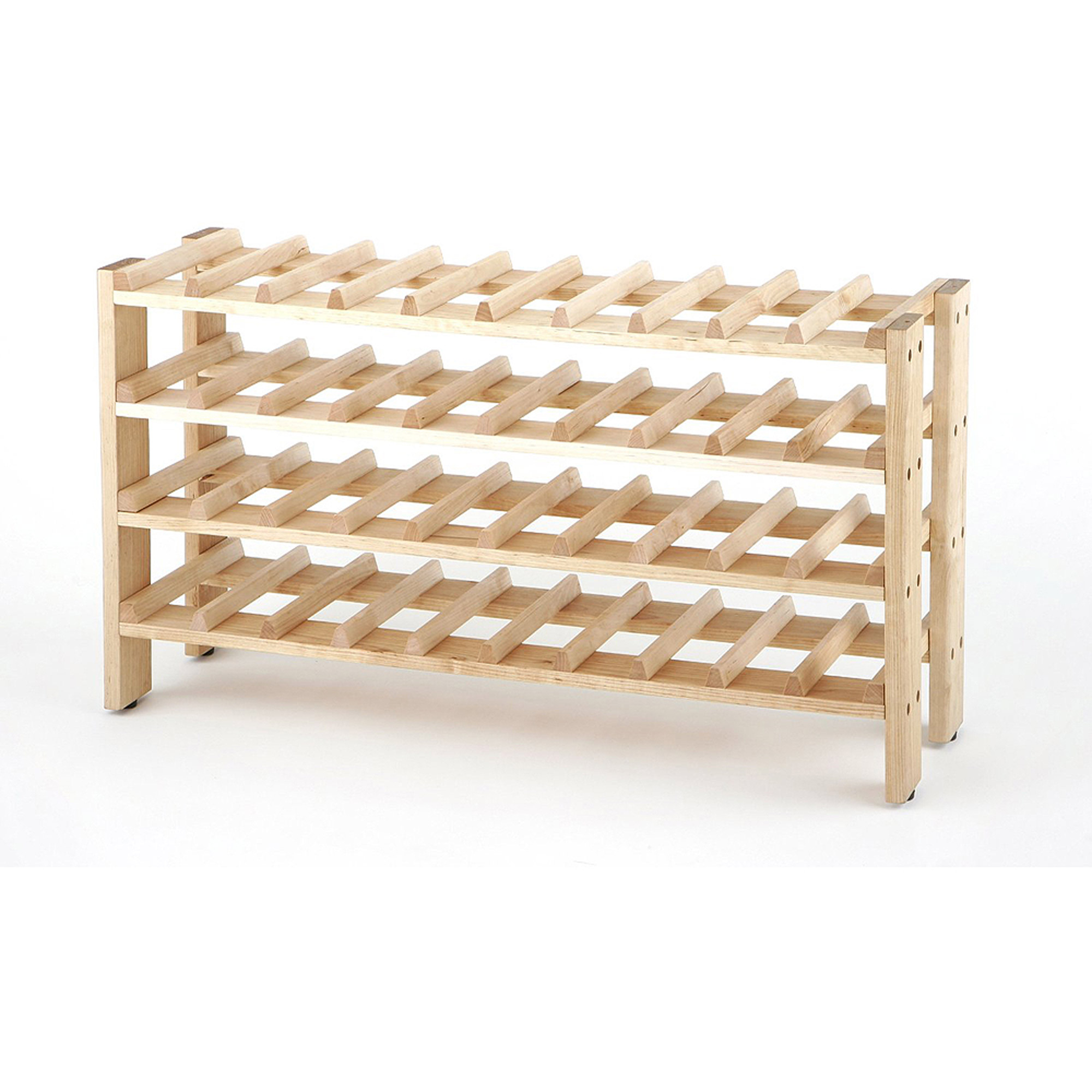 Seville Classics 40-Bottle Birchwood Wine Rack, FRN04714