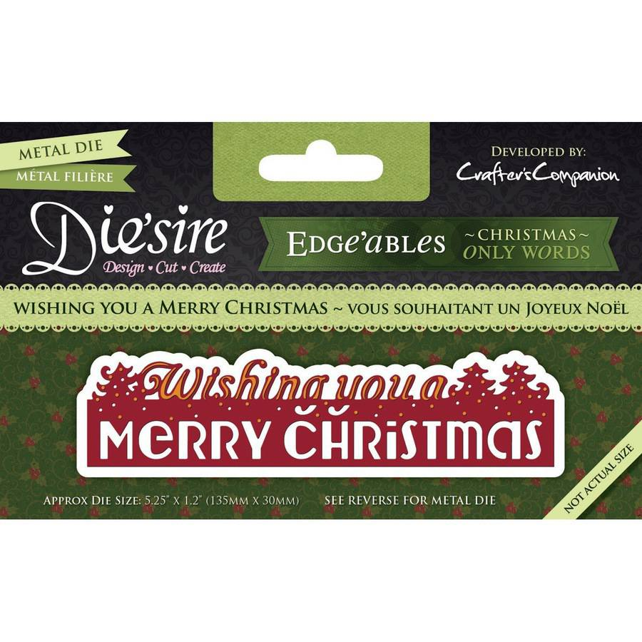 Die'sire Edge'ables Cutting & Embossing Die-Wishing You A Merry Christmas