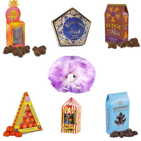 Harry London Chocolates - The Wizarding World of Harry Potter Chocolate Giftset with Purple Pygmy Puff and Bertie Bot by Universal Studios