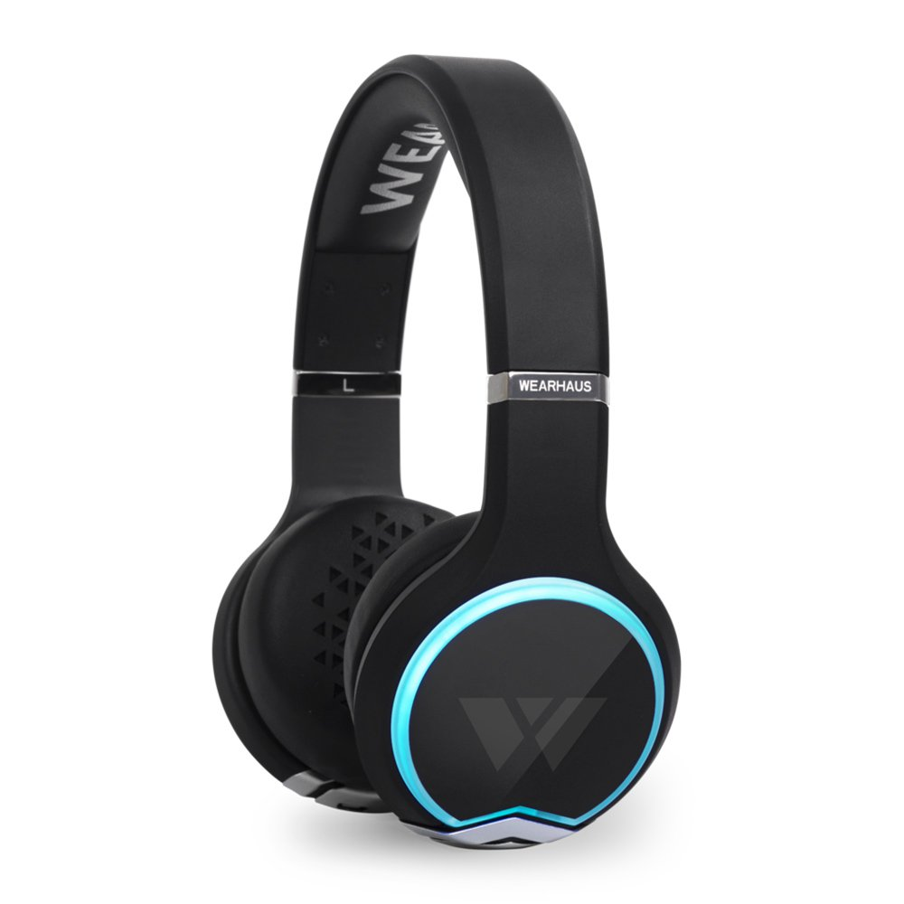 Wearhaus Arc Wireless Android iOS Bluetooth HD Syncing On Ear Headphones, Black