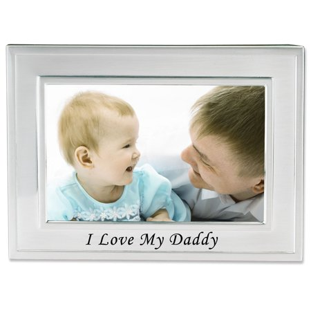 I Love My Daddy Silver Plated 6x4picture Frame Walmartcom