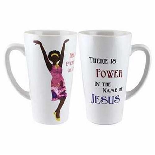 Image of Mug-Latte-Power In The Name Of Jesus