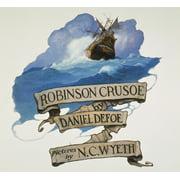 Robinson Crusoe, 1920. /Ntitle Page Of Daniel Defoe'S 'Robinson Crusoe.' Illustration By N.C. Wyeth. Poster Print by Granger Collection
