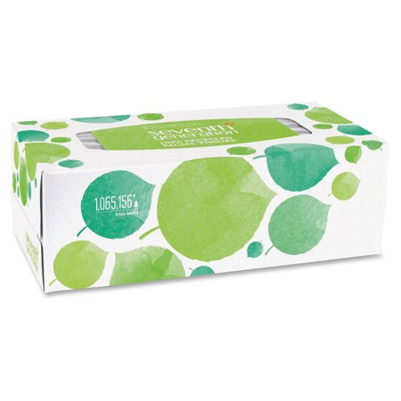 Seventh Generation 100% Recycled Facial Tissues - 2 Ply - White - Paper -  Hypoallergenic, Non-chlorine Bleached, Dye-free, Fragrance-free - For Face  -