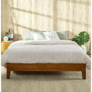 Zinus Wen Deluxe Solid Acacia Wood Platform Bed, Cherry Finish, King
