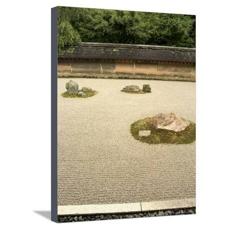 Ryoanji Temple Rock Garden, Ryoan-Ji, Unesco World Heritage Site, Kyoto City, Honshu, Japan Stretched Canvas Print Wall Art By Christian Kober ()
