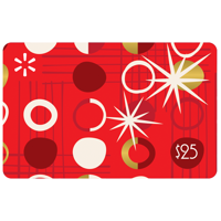 $25 Red Ornaments Walmart Gift Card