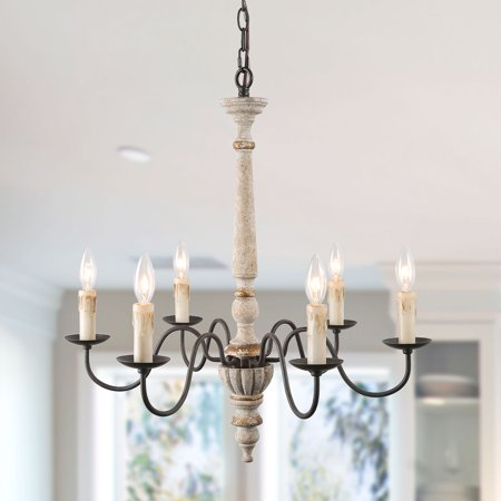 Lnc 6 Lights Retro White Shabby Chic French Country Chandeliers
