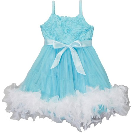 Frozen Dresses For Adults (Wenchoice Girl's Frozen Blue Feather Dress)