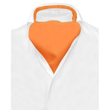 Vesuvio Napoli ASCOT Solid ORANGE Color Cravat Men