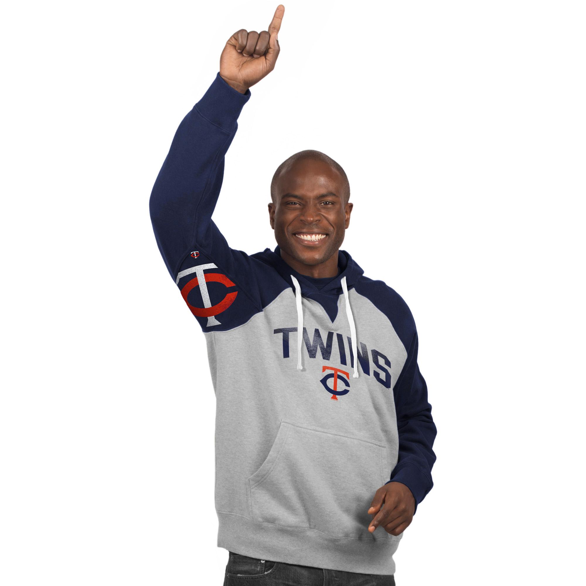 Minnesota Twins Hands High Pullover Hoodie - Gray