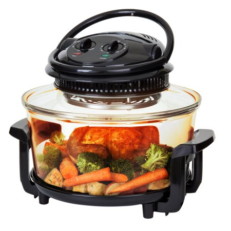 Best Choice Products 12L Electric Convection Halogen Oven for Baking, Roasting, Steaming, Grilling w/ Air Fryer Capabilities, Temperature and Time Dials, Automatic Shutoff, 2 Wire Racks, Tongs -