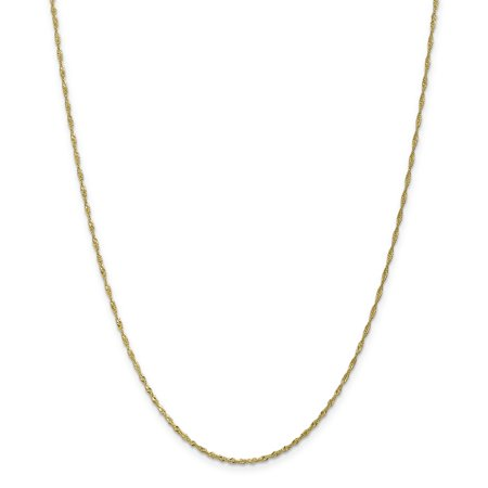 10k Yellow Gold 1.4mm Link Singapore Chain Anklet Ankle Beach Bracelet : For Women