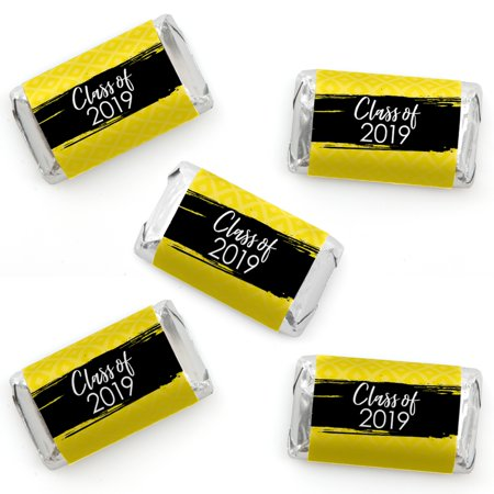 Yellow Grad - Best is Yet to Come - Mini Candy Bar Wrapper Stickers - 2019 Yellow Graduation Party Small Favors - 40