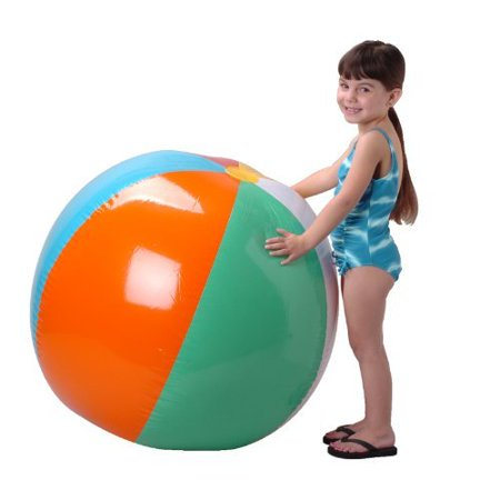US Toy Inflatable Giant Beach Ball, - Giant Inflatable Sports Balls
