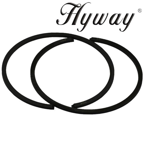 Hyway piston rings 50mm fits Stihl 044, MS440, MS441, TS410, TS420
