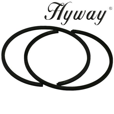 Hyway piston rings 50mm fits Stihl 044, MS440, MS441