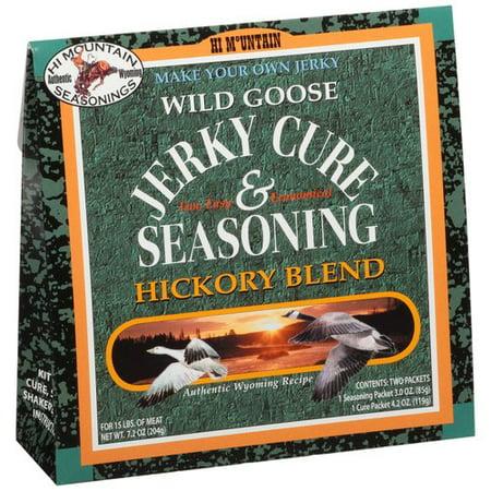 Hi Mountain Seasonings Wild Goose Hickory Blend Jerky Cure & Seasoning Kit, 7.2