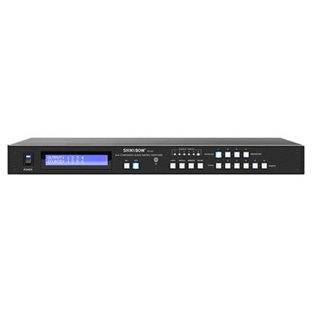 Sdi Matrix Routing Switcher - Shinybow SB-5564LCM Professional 6x4 Component Video/Stereo Audio Matrix Routing Switcher with 3-Year Warranty