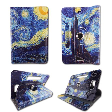 Starry Night folio tablet Case for Acer Iconia Tab 8 inch android tablet cases 8 inch  Slim fit standing protective rotating universal PU leather standing cover