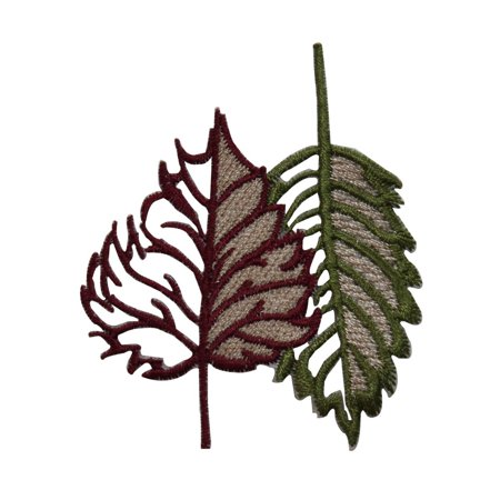 ID 7224 Cutout Tree Leaves Patch Fall Nature Tree Embroidered Iron On Applique - Fall Leaf Cutouts